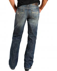 Rock & Roll Cowboy Men's Double Barrel Relaxed Fit Bootcut Jeans - Tall