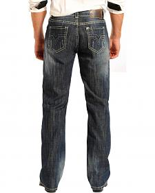 Rock & Roll Cowboy Men's Double Barrel Relaxed Fit Straight Leg Jeans - Tall