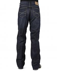 Stetson 1312 Relaxed Fit Jeans with Flag Detail - Boot Cut - Big and Tall