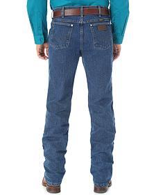 Wrangler Cool Vantage 47 Dark Stonewash Jeans - Slim Fit - Big and Tall