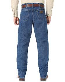 Wrangler Cool Vantage 36 Dark Stonewash Jeans - Slim Fit - Big and Tall