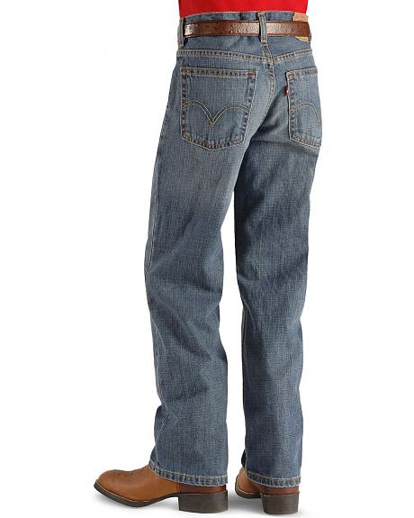 Boys' Levis Husky Relaxed Fit 550  Clean Crosshatch Straight Leg Jeans