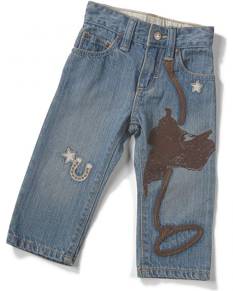 Wrangler Infant Boys' Embroidered Denim Jeans - 6M-18M