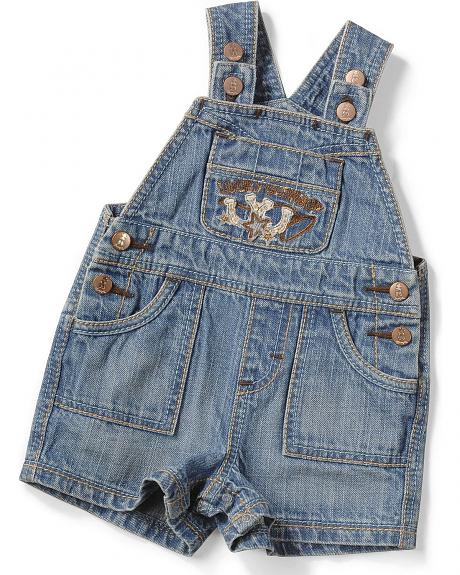 Wrangler Infant Boys' Lucky Cowboy Denim Shortalls - 6M-18M