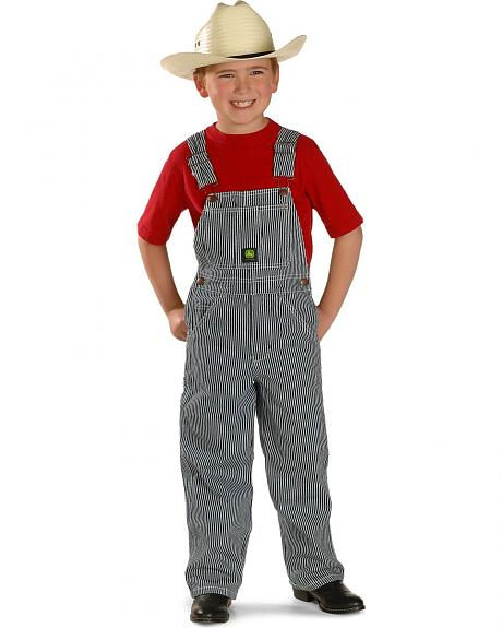 John Deere Boys' Striped Overalls - 4-7