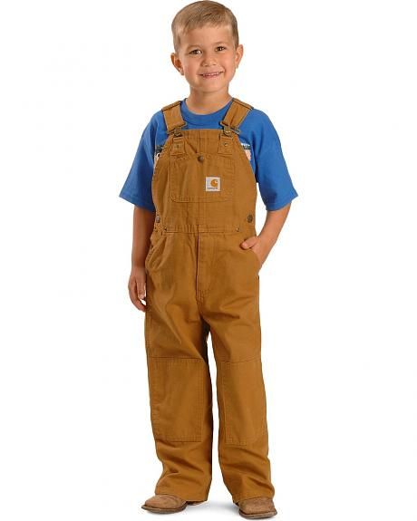 Carhartt Boys' Washed Duck Bib Overalls - 8-16