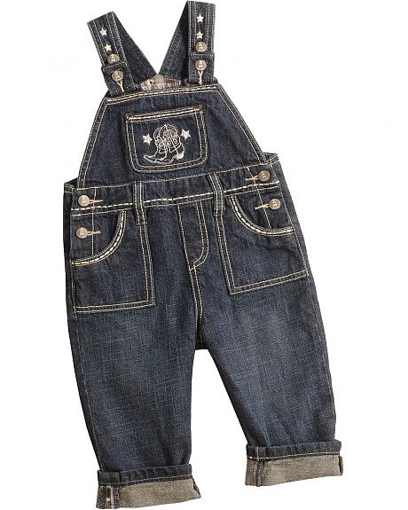 Wrangler Infants' Embroidered Denim Overalls - 6M-18M