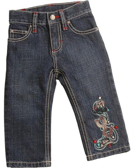 Wrangler Infant Boys' Embroidered Jeans - 6M-18M