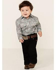 Wrangler Toddler Boys' Cowboy Cut Jeans - Black  - 1T-3T