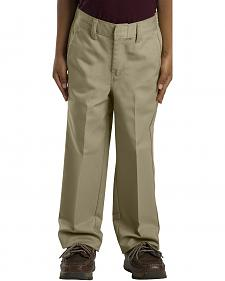 Dickies Boys' Flex Waist Flat Front Pants - 4-7