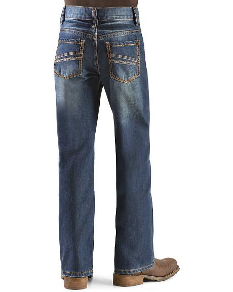 Red Ranch Boys' Stonewash Stitched Pocket Jeans - 8-16