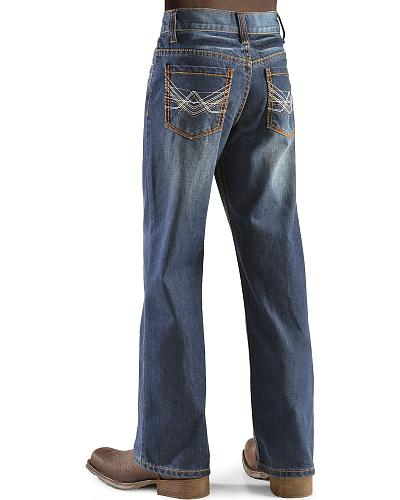 Red Ranch Boys Stitched Pocket Jeans 4-7 Western & Country B203