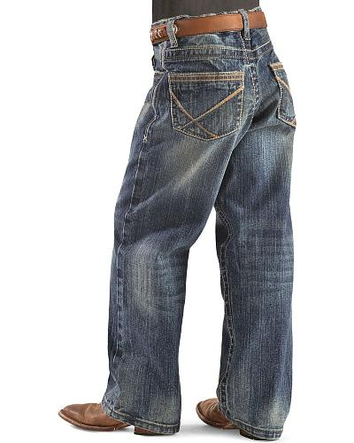 Wrangler 20X 33 Extreme Relaxed Brooks Stitch Straight Leg Boys Jeans 4-7 Western & Country 33JLDBK SLIM