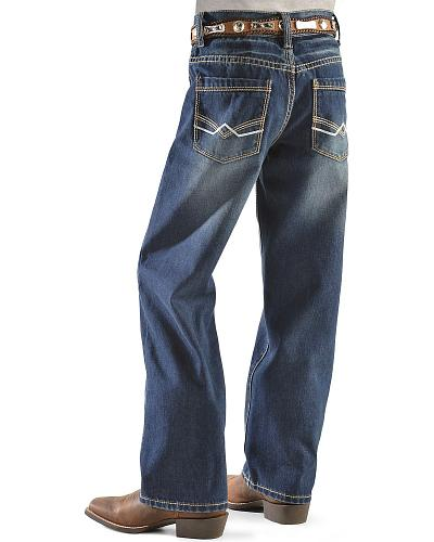Red Ranch Boys Heavy Stitch Dark Rinse Straight Leg Jeans 8-16 Western & Country KKBJ-1 8-16