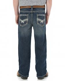 Wrangler Rock 47 Boys' Bootcut Electric Wash Jeans - 4-7