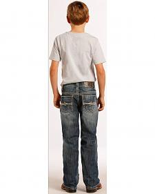 Rock and Roll Cowboy Boys' Curved Abstract Jeans - Regular Fit