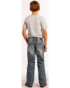 Rock and Roll Cowboy Boys' Large V Jeans - Regular Fit