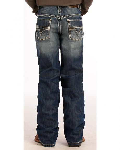 Rock and Roll Cowboy Boy's Abstract V Bootcut Jeans
