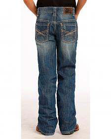 Rock and Roll Cowboy Boy's Abstract Bootcut Jeans
