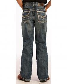 Rock and Roll Cowboy Dark Wash Crossing V Jeans