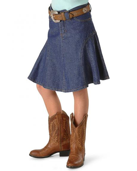 Girls' Gored Denim Skirt - 2-16