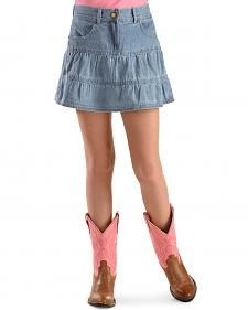 Ely Girls' Tiered Denim Skirt - 4-12