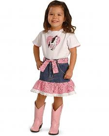 Kiddie Korral Girls' Horse Bandana Skirt Set - 2-6