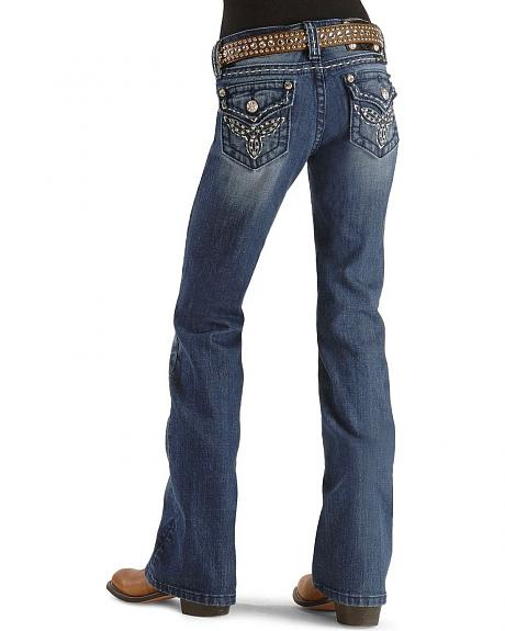 Miss Me Girls' Heavy Stitch Pocket Jeans - 7-14