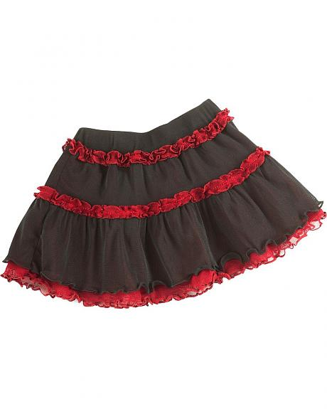 Wrangler Infant Girls' Black & Red Tutu Skirt - 6-18M