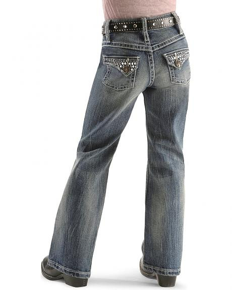 Wrangler Girls' Rock 47 Bell Blue Jeans 4-6X