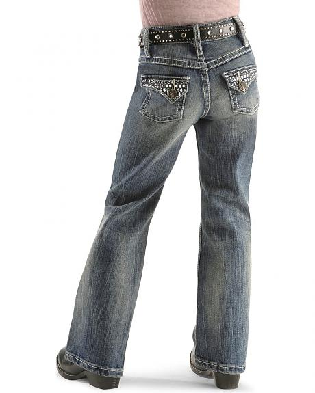 Wrangler Girls' Rock 47 Bell Blue Jeans 7-14