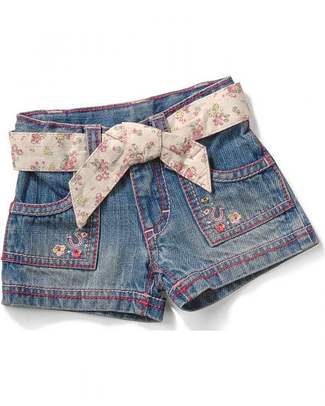 Wrangler Infant Girls' Tulip Pocket Jean Shorts - 6M-18M