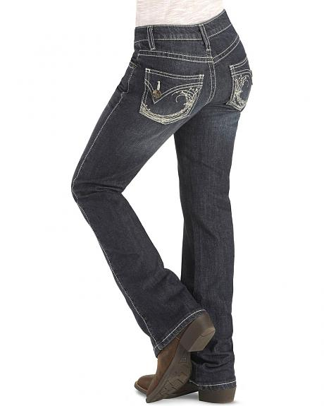 Wrangler Girls' Rock 47 Rhinestone Flap Pocket Jeans - 7-14