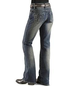Girls' Wrangler Rock 47 Foil Sequins & Rhinestone Jeans - 4-6X