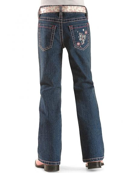 Girls' Stitched Butterfly Jean - 4-6X