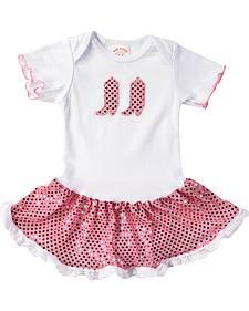 Kiddie Korral Infant Girls' Sequin Boots & Skirt Bodysuit Dress - 6M-24M