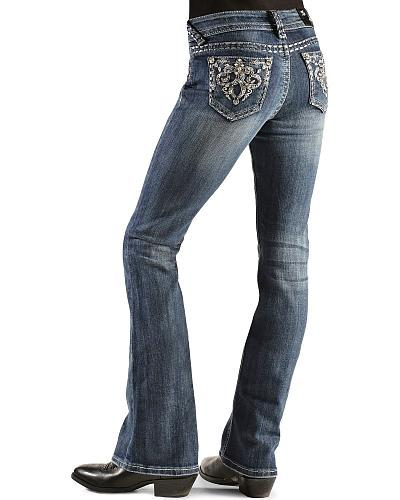 Girls Grace in L.A. Embellished Embroidery Jeans 7-16 Western & Country 6497