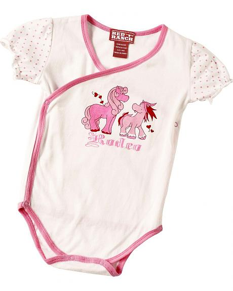 Red Ranch Infant Girls' Rodeo Pony Bodysuit - 3M-18M