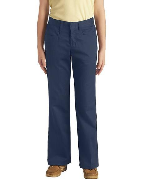 Dickies Girls' Stretch Bootcut Pants - 4-6X