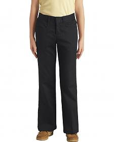 Dickies Girls' Stretch Bootcut Pants - 7-14