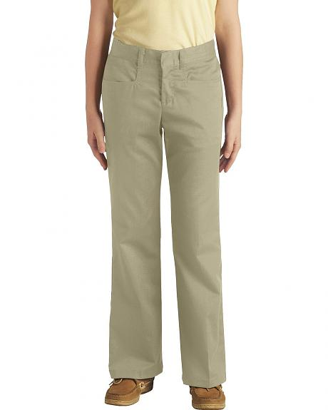 Dickies Girls' Stretch Bootcut Pants - 16-18