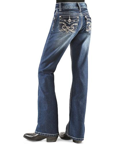 Red Ranch Girls Studs & Stitching Jeans 7-14 Western & Country DJ-0104_7-14