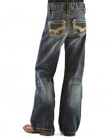 Wrangler Rock 47 Girls' Gold Embroidery Bootcut Jeans - 8-14