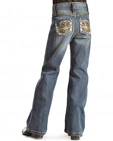 Wrangler Rock 47 Girls' Sparkle Pocket Bootcut Jeans - 4-6X