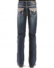 Grace in L.A. Girls' Rhinestone Bootcut Jeans - 7-16