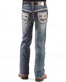 Grace in L.A. Girls' Lace Applique Bootcut Jeans - 4-6X