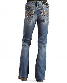 Miss Me Girls' Sparkle & Flash Bootcut Jeans - 7-14