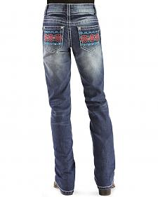 Red Ranch Girls' Colorful Pocket Bootcut Jeans - 7-14