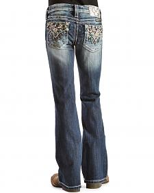 Miss Me Girls' Starburst Embellished Back Pocket Jeans