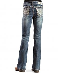 Grace in L.A. Girls' Bejeweled Bootcut Jeans